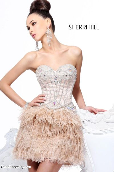 Formal Dresses with Feathers