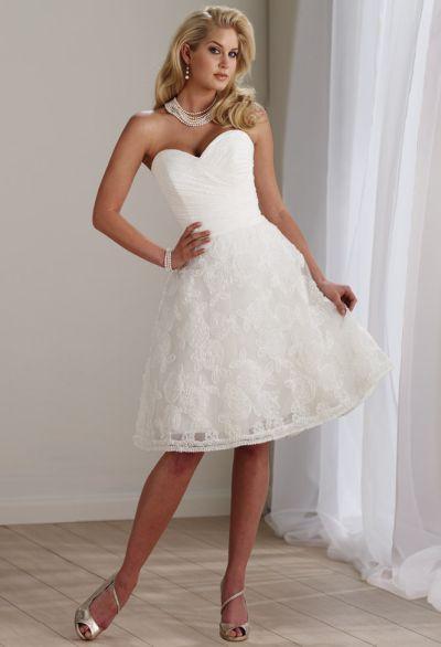 Mon cheri destinations short lace wedding reception dress for Lace wedding reception dress
