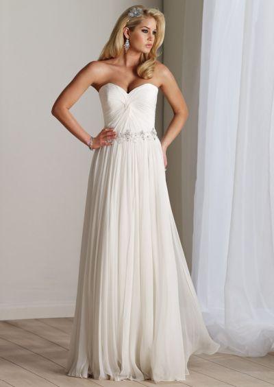 Ivory Beach Wedding Dresses on Destinations By Mon Cheri Chiffon Beach Wedding Dress 211193 Image