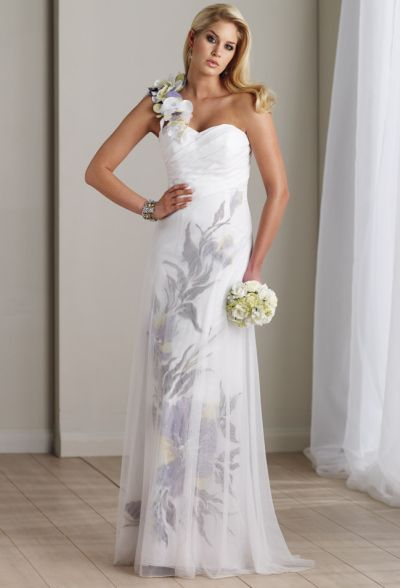 Hand painted informal wedding dress destinations by mon for Painted on wedding dress