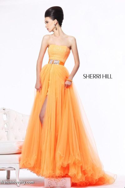 Sherri Hill 21139 High Low Dress With Removable Skirt French Novelty