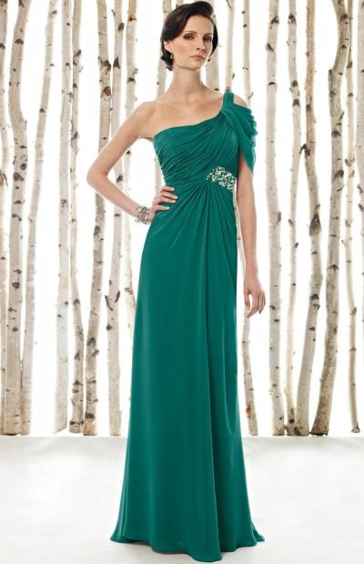 Cameron Blake One Shoulder Chiffon Mother of the Bride Dress ...