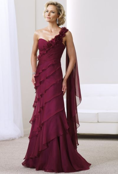 Montage Tiered One Shoulder Mother of the Bride Dress 211908 ...