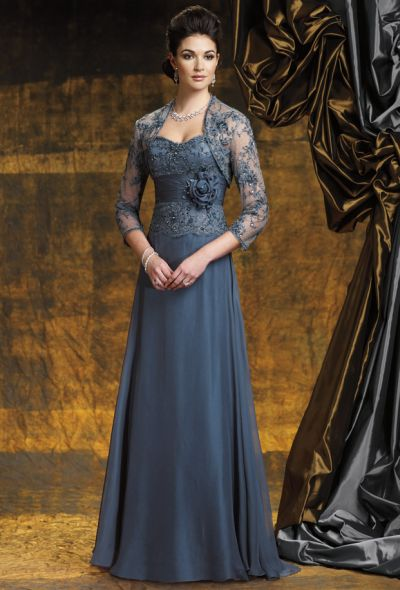 Montage Boutique by Mon Cheri Evening Dress with Lace Jacket ...