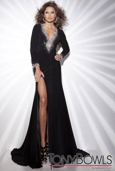 V Neck Crystal Dress