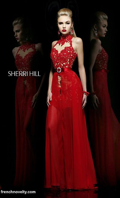 Sherri Hill 21213 High Low Dress With Removable Skirt French Novelty