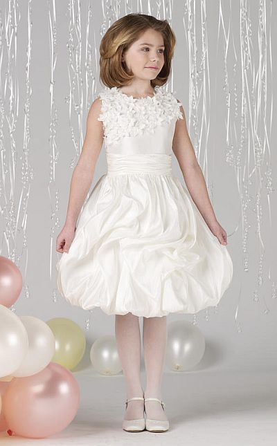 Joan Calabrese by Mon Cheri Girls Bubble Dress 212374: French Novelty