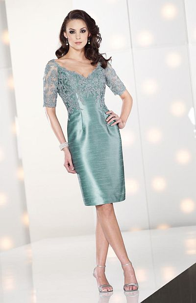 0831092877a Social Occasions by Mon Cheri Cocktail Dress 212804 with Lace Sleeves   French Novelty