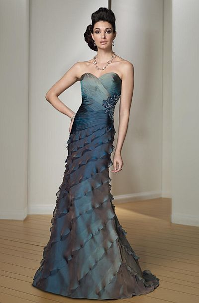 Montage Boutique Silk Ombre Evening Dress 212981 Available