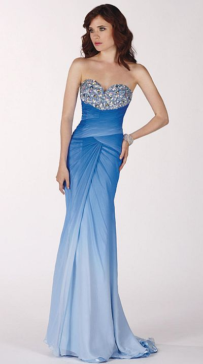 Claudine for Alyce Sapphire Ice Blue Ombre Prom Dress 2134: French ...