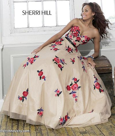 Sherri Hill 21340 Fl Evening Dress