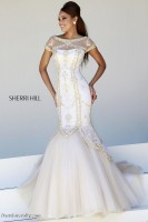 Sherri Hill 21369 Cap Sleeve Illusion Gown image