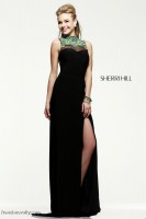 Sherri Hill 21370 Beaded Illusion Gown image