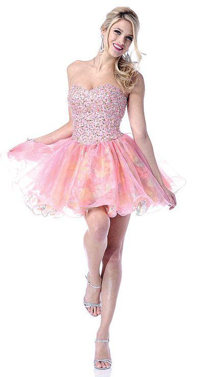 Johnathan Kayne Organza Cupcake Short Prom Party Dress 214: French ...