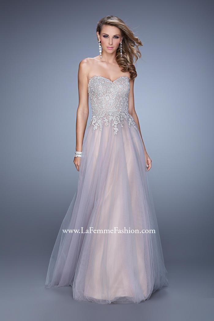 Allure wedding dresses austin texas : La femme tulle evening dress french novelty