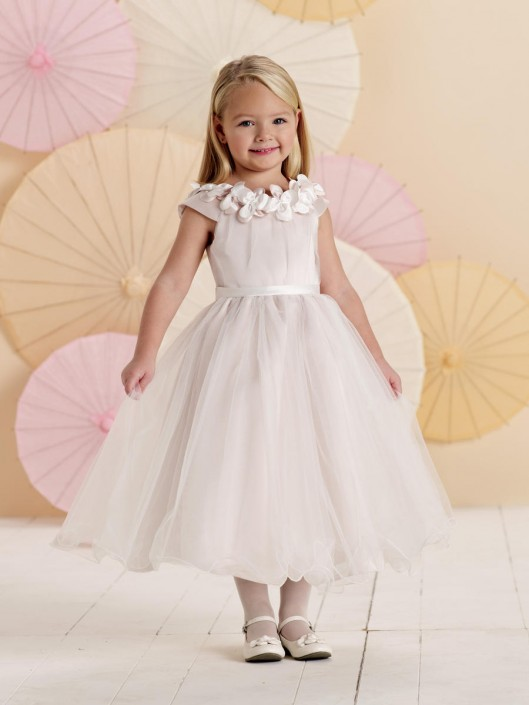f5acd9d76c6 Joan Calabrese for Mon Cheri 214371 Cap Sleeve Flower Girl Dress  French  Novelty