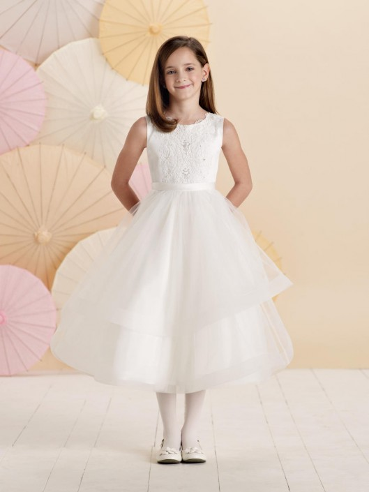 d578f984c82 Joan Calabrese for Mon Cheri 214376 Lace Flower Girl Dress  French Novelty