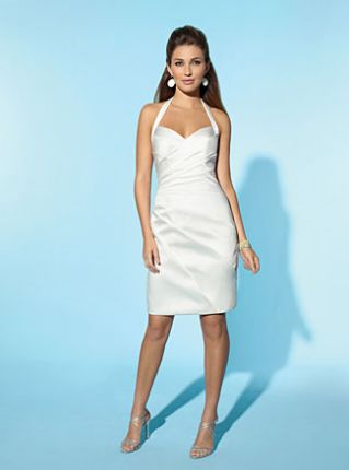 Alfred Angelo Little White Dress Short Informal Wedding Dress 2149 ...