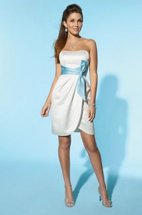Alfred Angelo Little White Dress Short Informal Wedding 2150