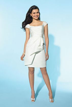 White Bridesmaid Dress on Alfred Angelo Little White Dress Short Casual Wedding Dress 2151 Image