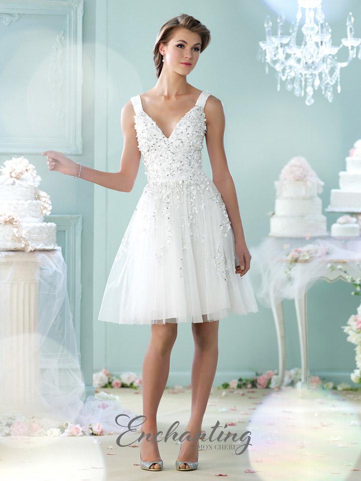 Short Tulle Wedding Dress