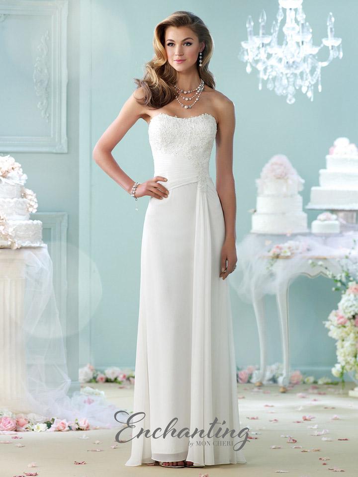 Enchanting by mon cheri 215106 chiffon informal wedding for Mon cheri wedding dress prices