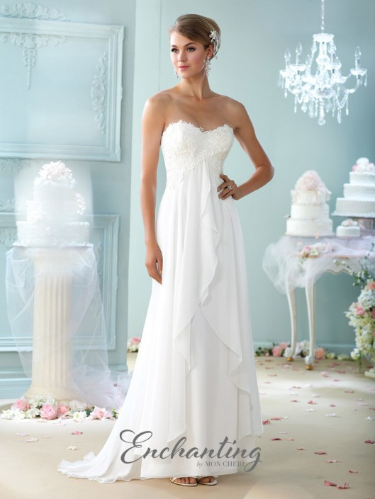 Enchanting by Mon Cheri 215108 Lace Destination Wedding Gown: French ...