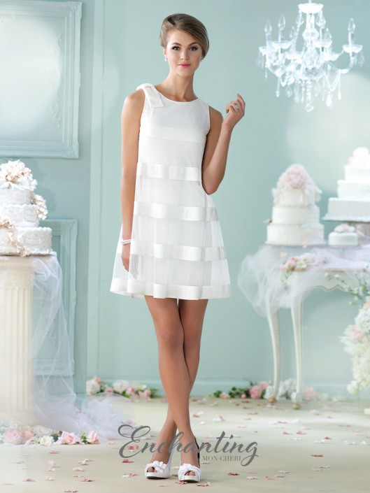 Enchanting by Mon Cheri 215112 Wedding Reception Dress: French Novelty