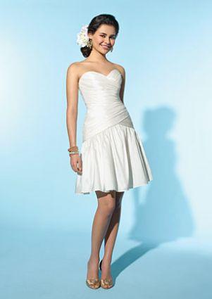 angelo little white dress short destination wedding dress 2153 image