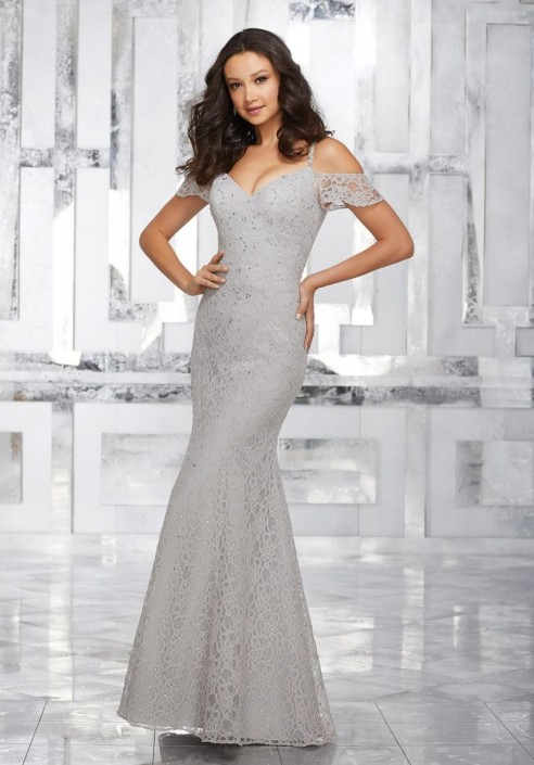 Morilee 21531 Off The Shoulder Lace Bridesmaid Gown