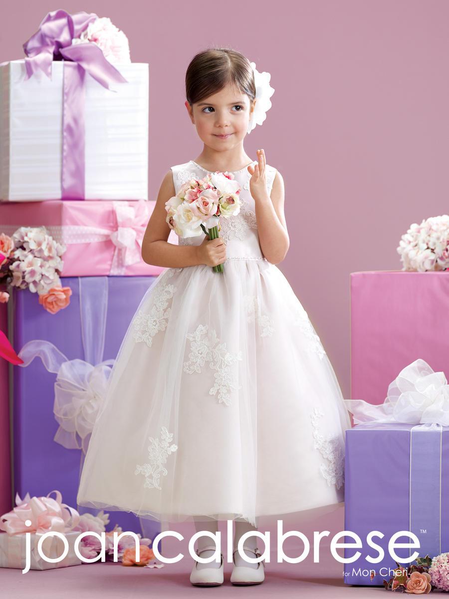 2e77f2f1dd1 Joan Calabrese for Mon Cheri 215341 V Back Flower Girls Dress
