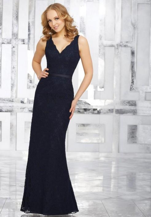 Morilee 21541 Sleeveless Lace Bridesmaid Dress