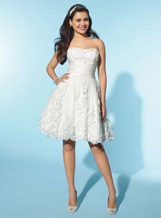 Alfred Angelo Little White Dress Short Destination Wedding Dress ...