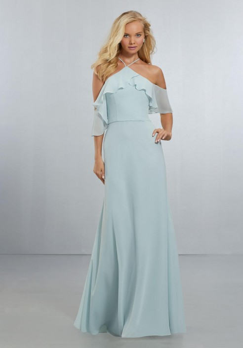 70a0f874572 Morilee 21551 Off Shoulder Flounce Bridesmaid Dress  French Novelty