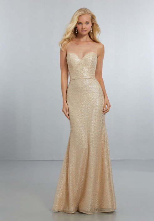eefd25afaed Morilee 21560 Sequin Illusion Bridesmaid Dress  French Novelty