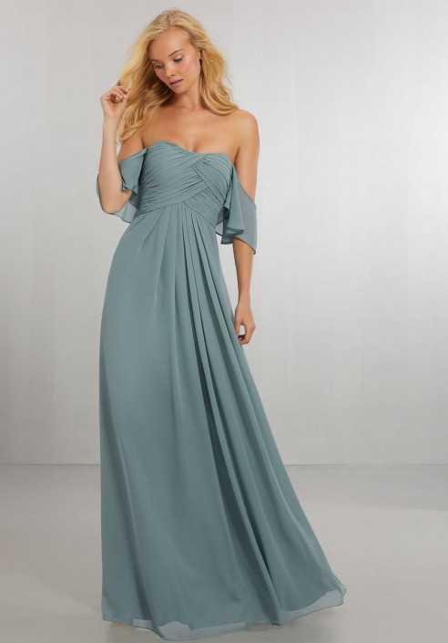 84e10c0294a Morilee 21571 Off Shoulder Ruffle Bridesmaid Dress  French Novelty