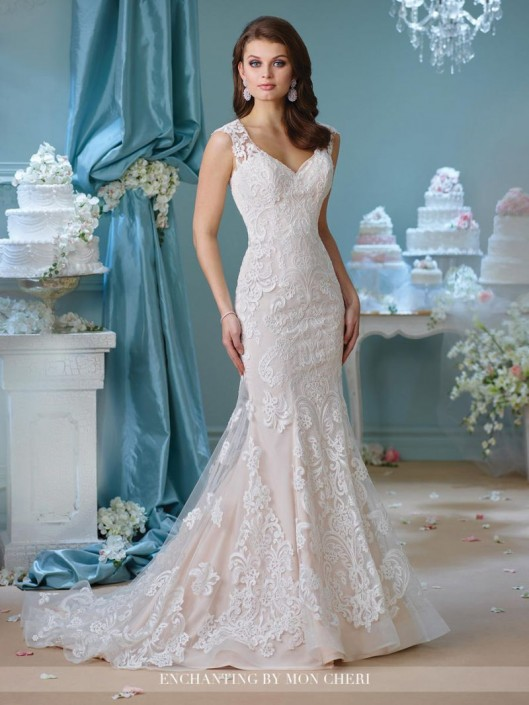 Enchanting by Mon Cheri 216151 Lace Destination Wedding Gown: French ...