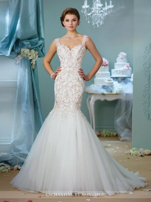 41e5c4b63c65 Enchanting by Mon Cheri 216153 Lace Mermaid Wedding Gown: French Novelty