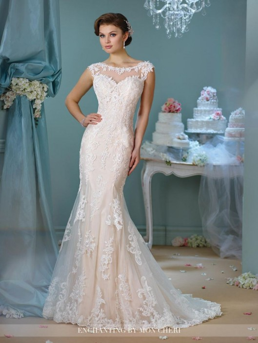 Enchanting by Mon Cheri 216159 Destination Wedding Gown: French Novelty