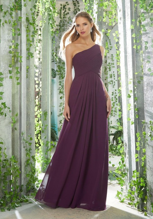3d94c1ecf1c64 Morilee 21619 One Shoulder Chiffon Bridesmaid Dress: French Novelty