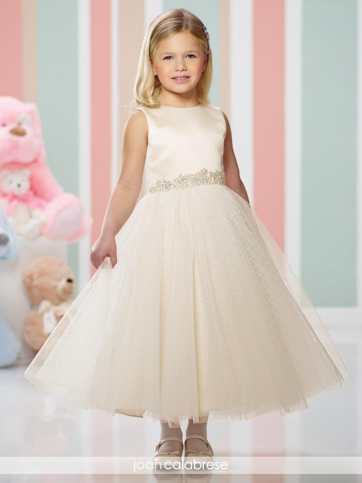 4f6b21780ee Joan Calabrese for Mon Cheri 216304 Beaded Flower Girls Dress