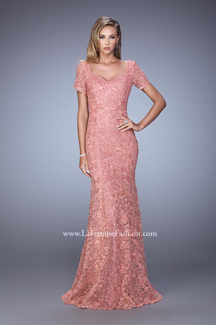 La femme evening 21657 lace formal dress french novelty for Formal wedding dresses for mother of the bride