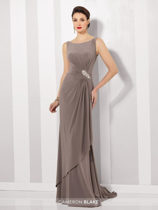 4ba80695d8ed Cameron Blake 216690 Flattering Mother of the Bride Dress: French Novelty