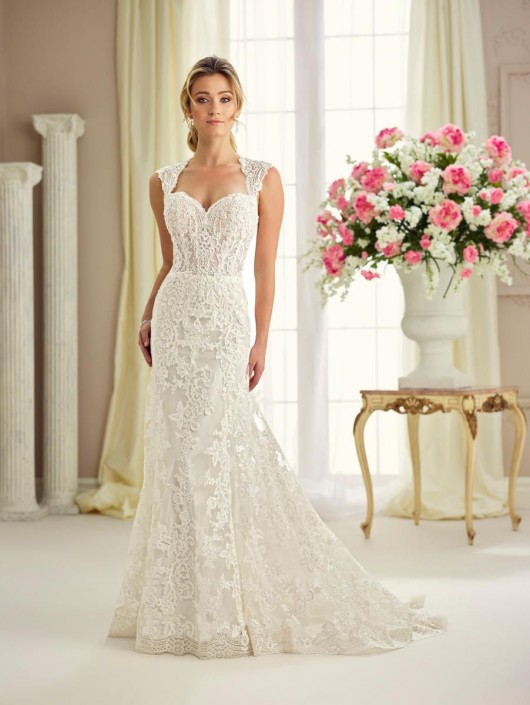 Enchanting By Mon Cheri 217116 Perfect Lace Destination Wedding Dress