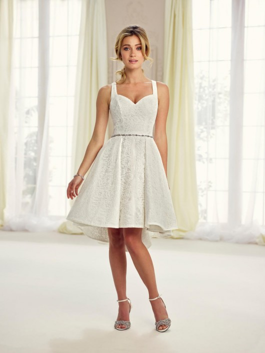 Enchanting By Mon Cheri 217117 Short Casual Wedding Dress French