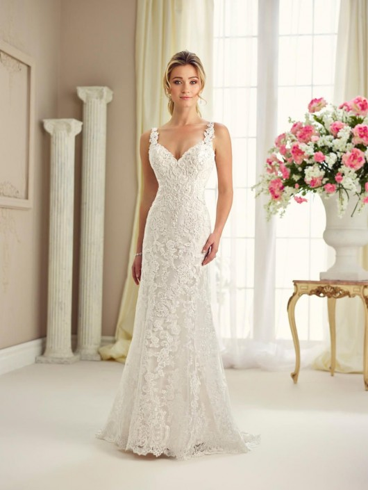 Enchanting By Mon Cheri 217120 Lace Wedding Dress With Sheer Back