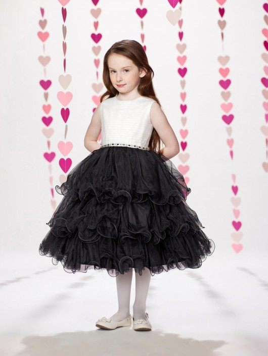 c0bb2edfd30 Joan Calabrese by Mon Cheri 217374 Ruffle Tulle Flower Girl Dress  French  Novelty