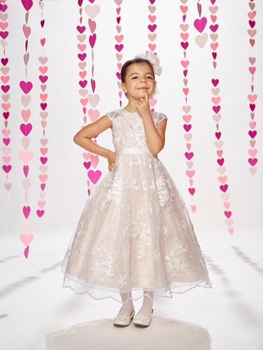 dce2e0bac29 Joan Calabrese by Mon Cheri 217383 Adorable Lace Flower Girl Dress  French  Novelty