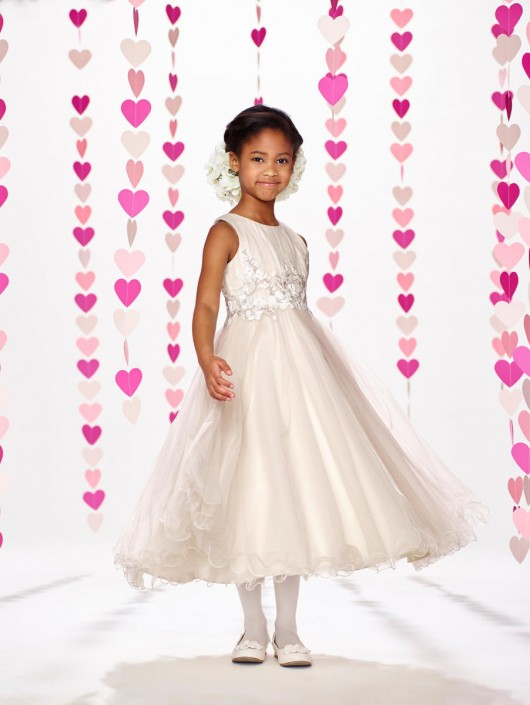 0e45ea53a Joan Calabrese by Mon Cheri 217388 Gorgeous Flower Girl Dress: French  Novelty