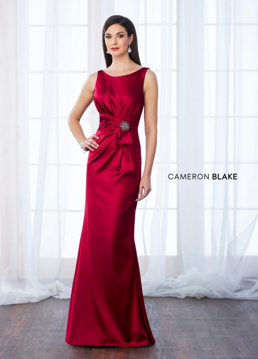 133d45d62fd9 Cameron Blake 217639 Stretch Satin Evening Gown: French Novelty